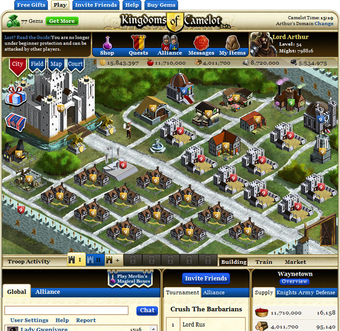 Kingdoms of Camelot - Free Multiplayer Online Games